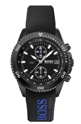 Chronograph watch with double-injection rubber strap, Assorted-Pre-Pack