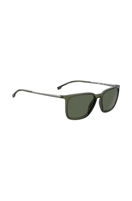 Green-optyl sunglasses with hardware temples, Assorted-Pre-Pack