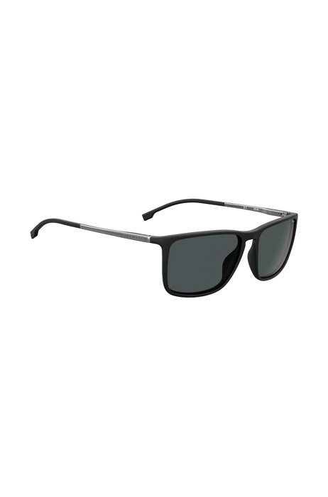 Black-optyl sunglasses with hardware temples, Assorted-Pre-Pack