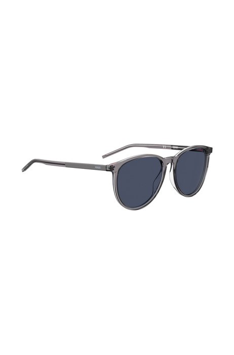 Gray-acetate sunglasses with blue lenses, Assorted-Pre-Pack