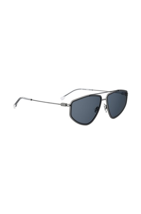 Angular-frame sunglasses with silver temples, Assorted-Pre-Pack
