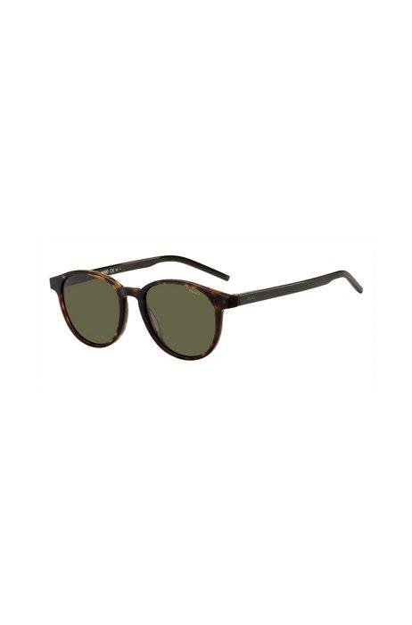 Havana-frame sunglasses with green lenses, Assorted-Pre-Pack
