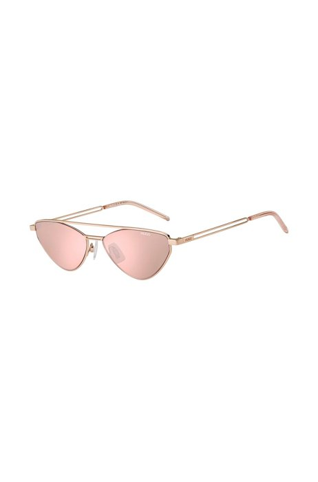 Violet-lens sunglasses with forked temples, Assorted-Pre-Pack
