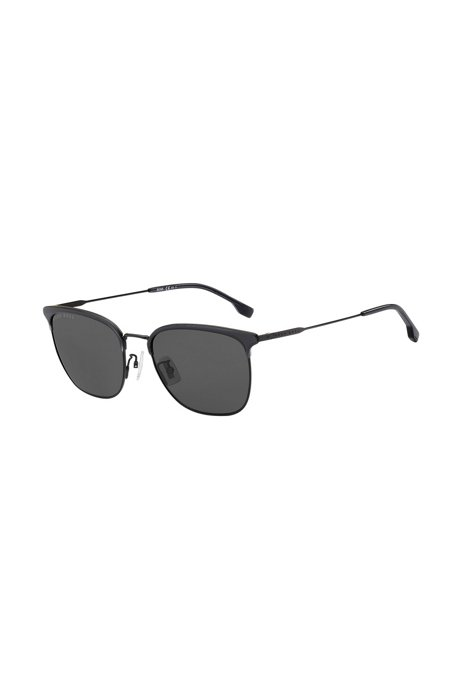 Lightweight sunglasses in matte black with gray lenses, Assorted-Pre-Pack