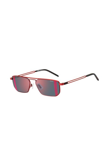 Striped-lens sunglasses with forked temples, Assorted-Pre-Pack