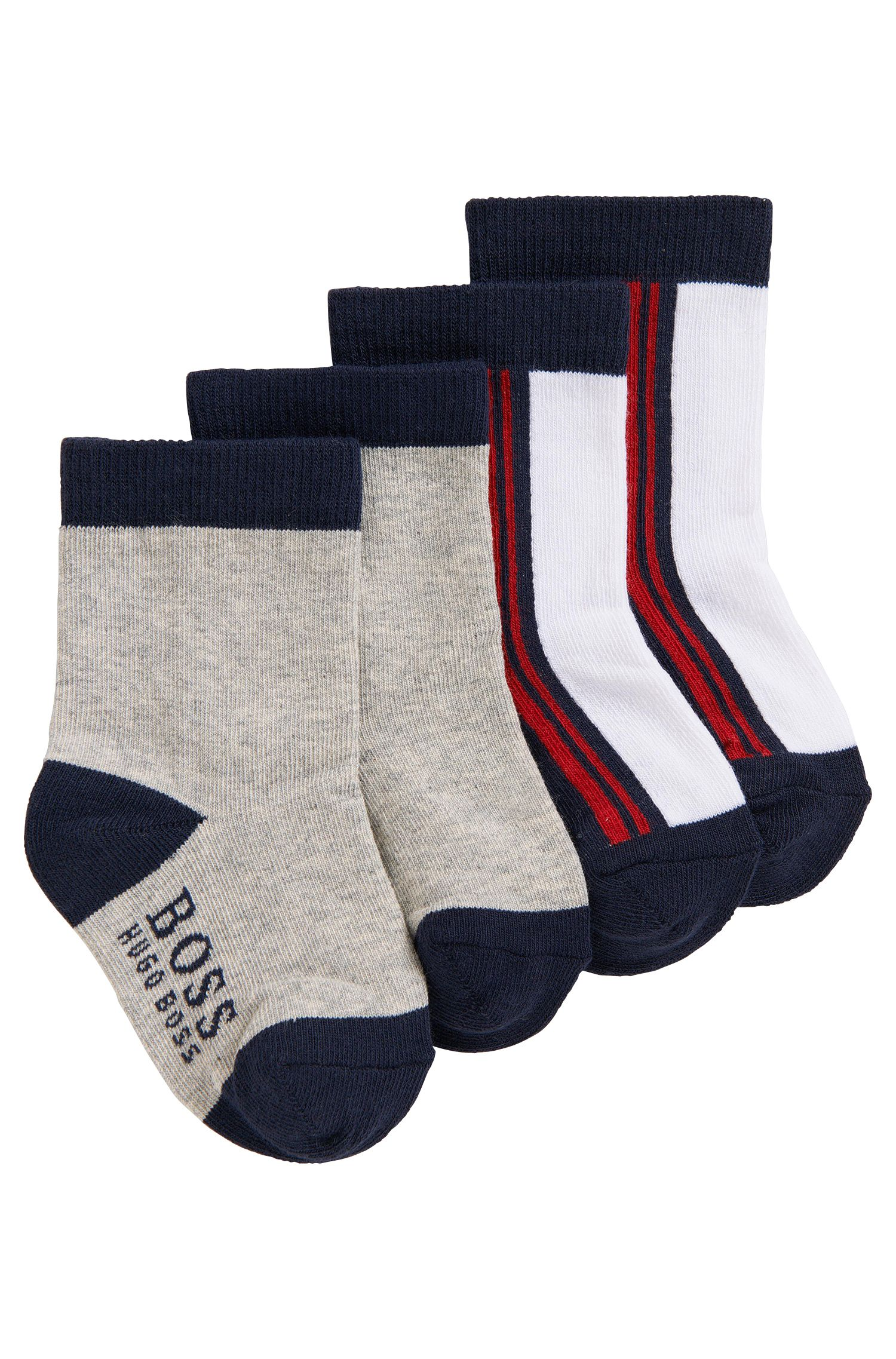 'J00061' | Two Pack Striped and Colorblock Socks