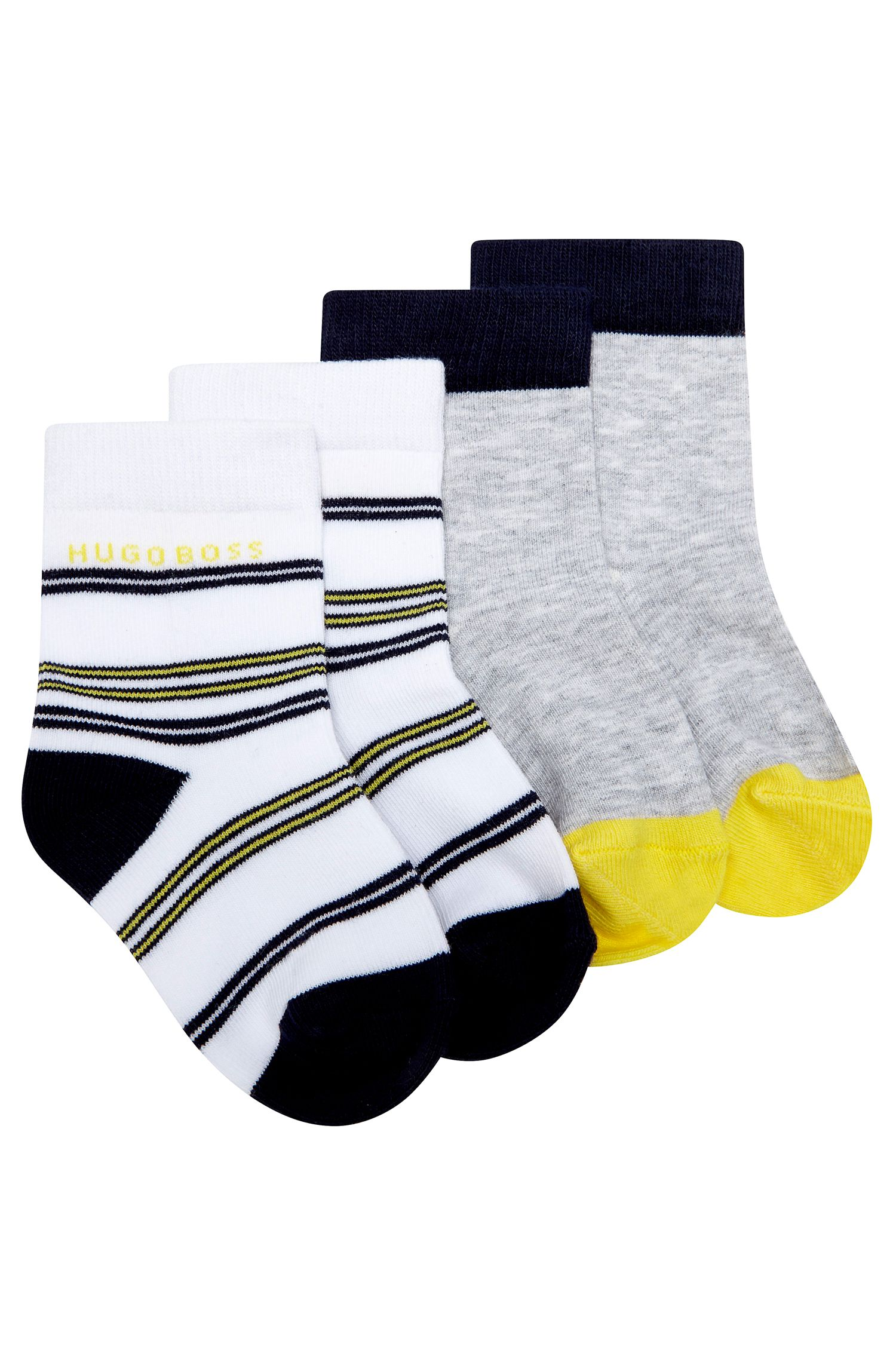 'J00073' | Two Pack Striped and Colorblock Socks