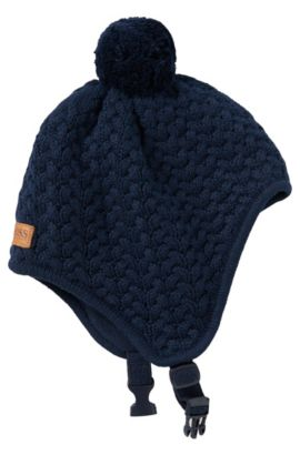 'J01064' | Toddler Knit Fleece Lined Hat, Dark Blue