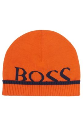 'J01080' | Toddler Cotton Beanie Hat, Orange