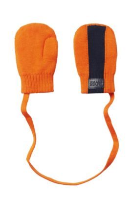'J01082' | Cotton Attached Mittens, Orange