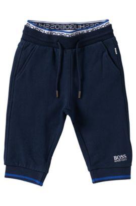 'J04205' | Toddler Fleece Logo Sweatpants, Dark Blue