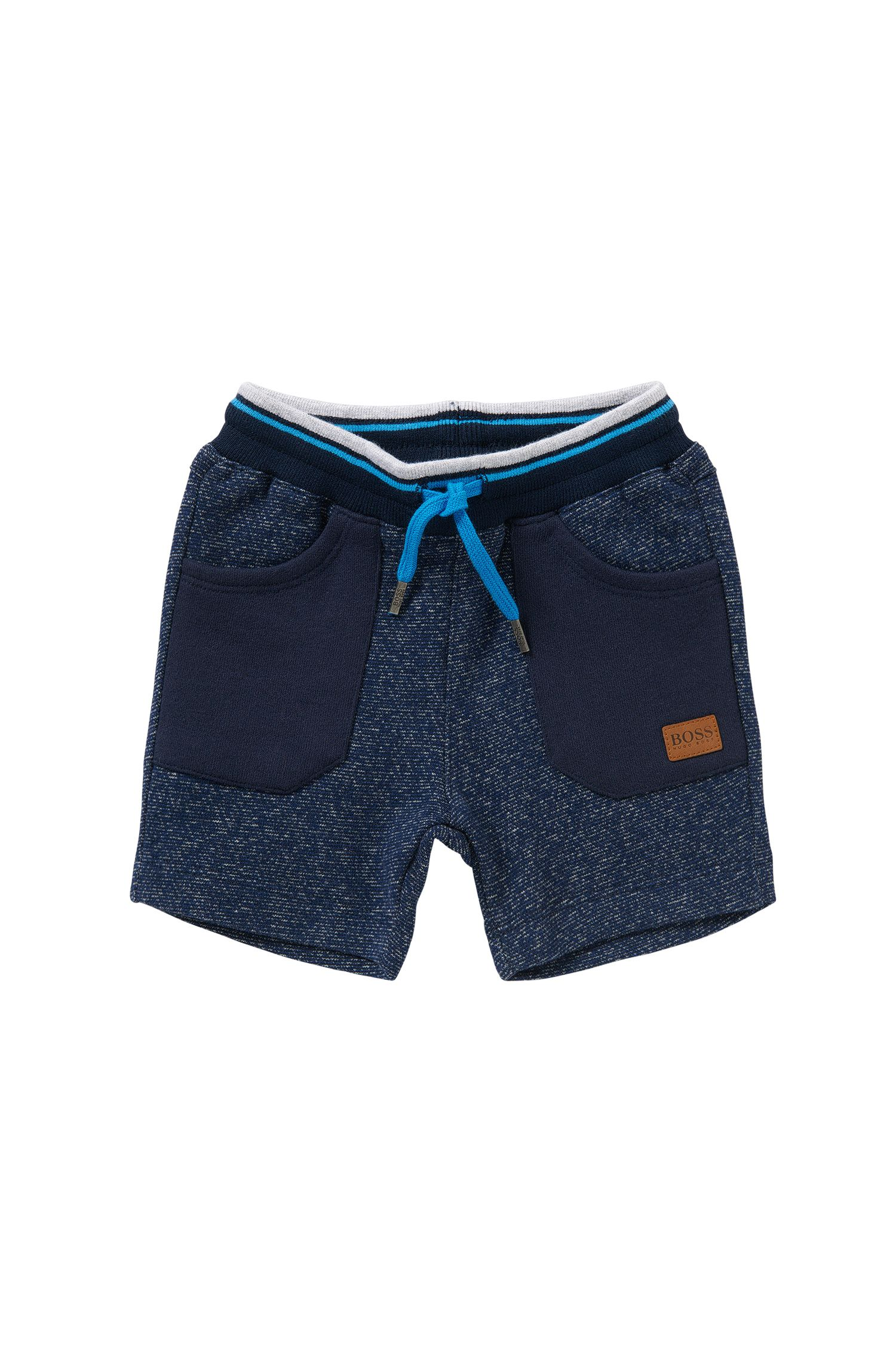 'J04217' | Toddler Cotton Melange Shorts