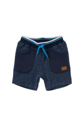 'J04217' | Toddler Cotton Melange Shorts, Dark Blue