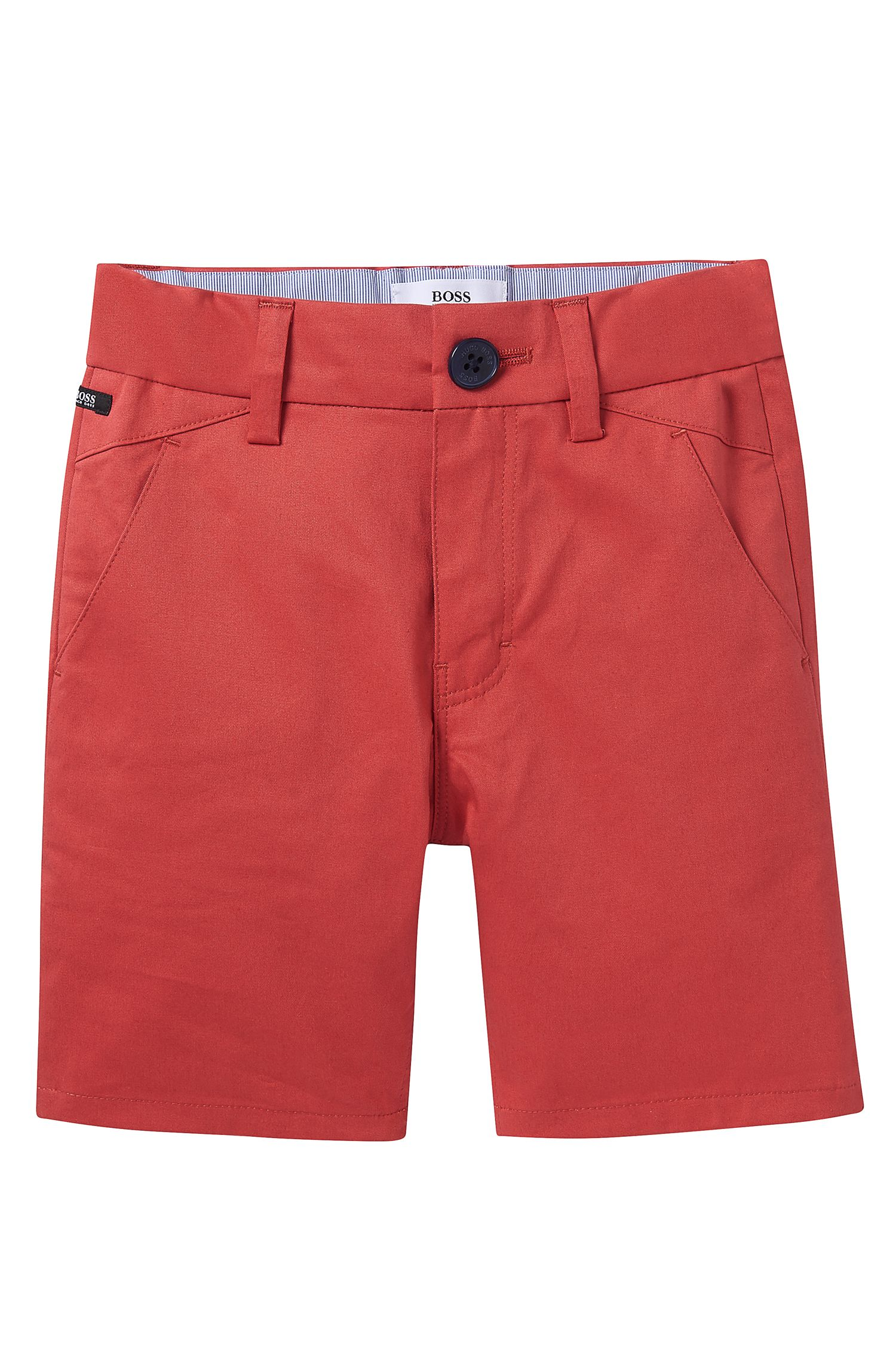 'J04221'   Toddler Cotton Satin Weave Shorts