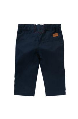 'J04227' | Toddler Cotton Twill Pants, Dark Blue