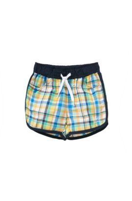 'J04230' | Toddler Plaid Quick Dry Swim Trunks, Green