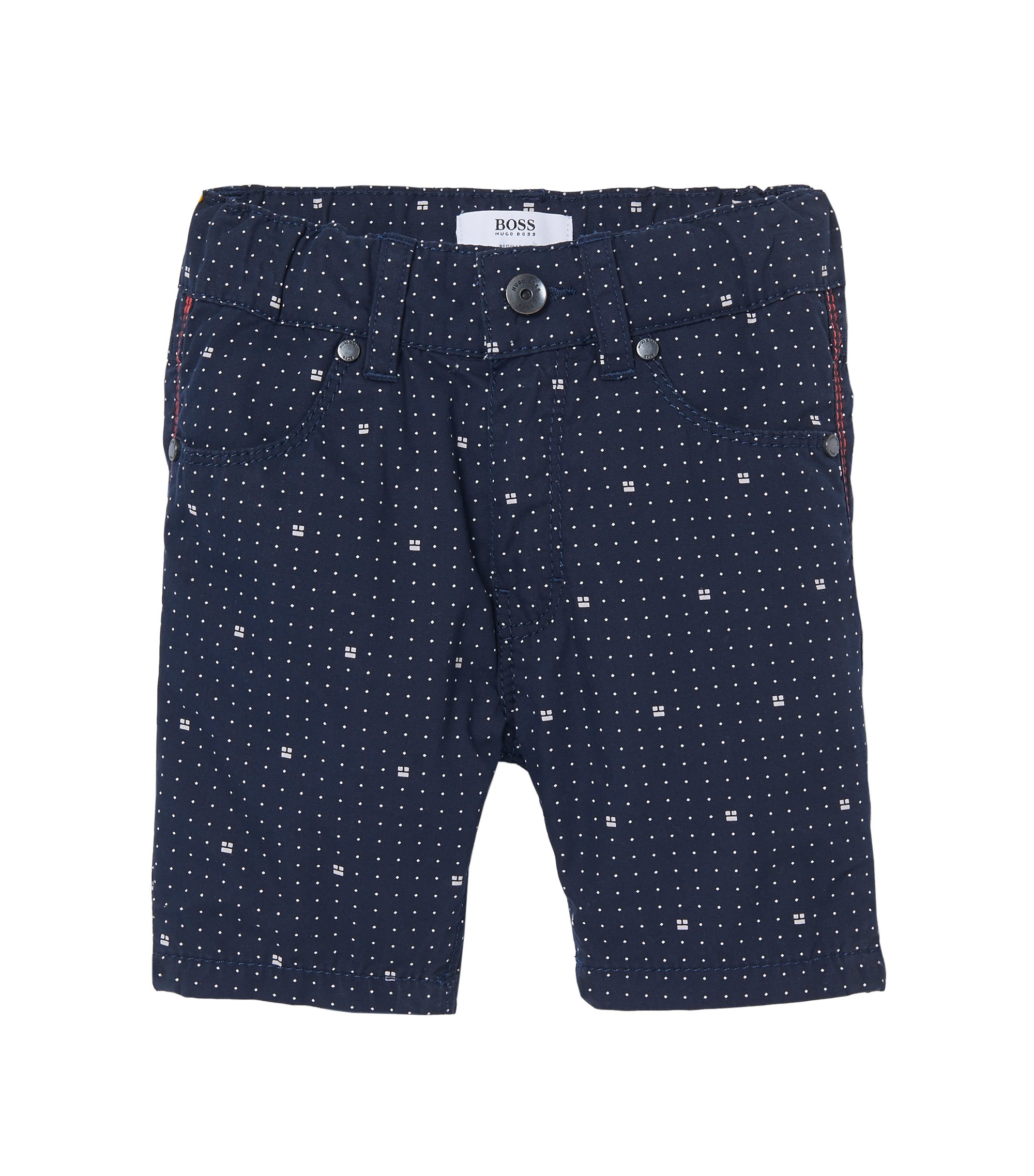 'J04239' | Toddler Printed Poplin Shorts, Dark Blue