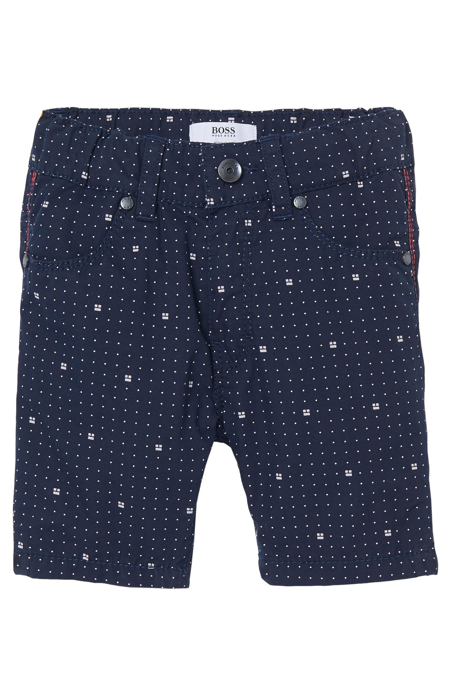 'J04239'   Toddler Printed Poplin Shorts, Dark Blue