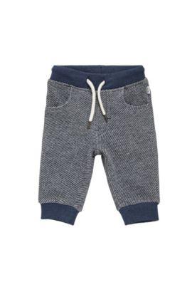 'J04245' | Toddler Cotton Drawstring Sweatpants, Dark Blue
