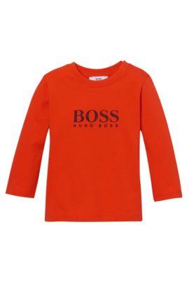 'J05391'   Toddler Cotton Logo T-shirt, Orange