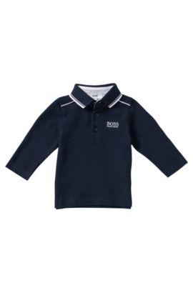 'J05399' | Toddler  Cotton Pique Polo Shirt, Dark Blue