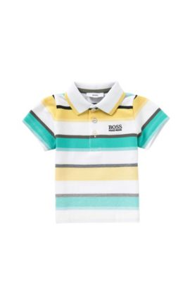 'J05446' | Toddler Stretch Cotton Polo Shirt, Green