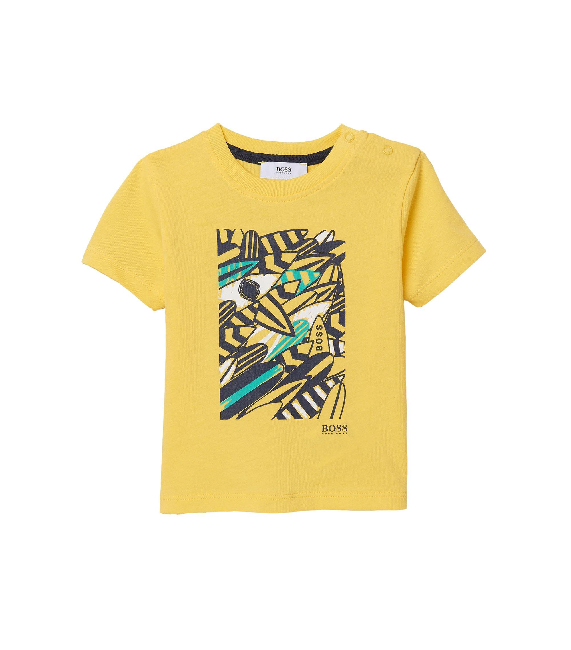 'J05459' | Toddler Cotton Graphic Tee, Yellow