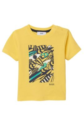 'J05459' | Toddler Cotton Graphic Tee, Yellow