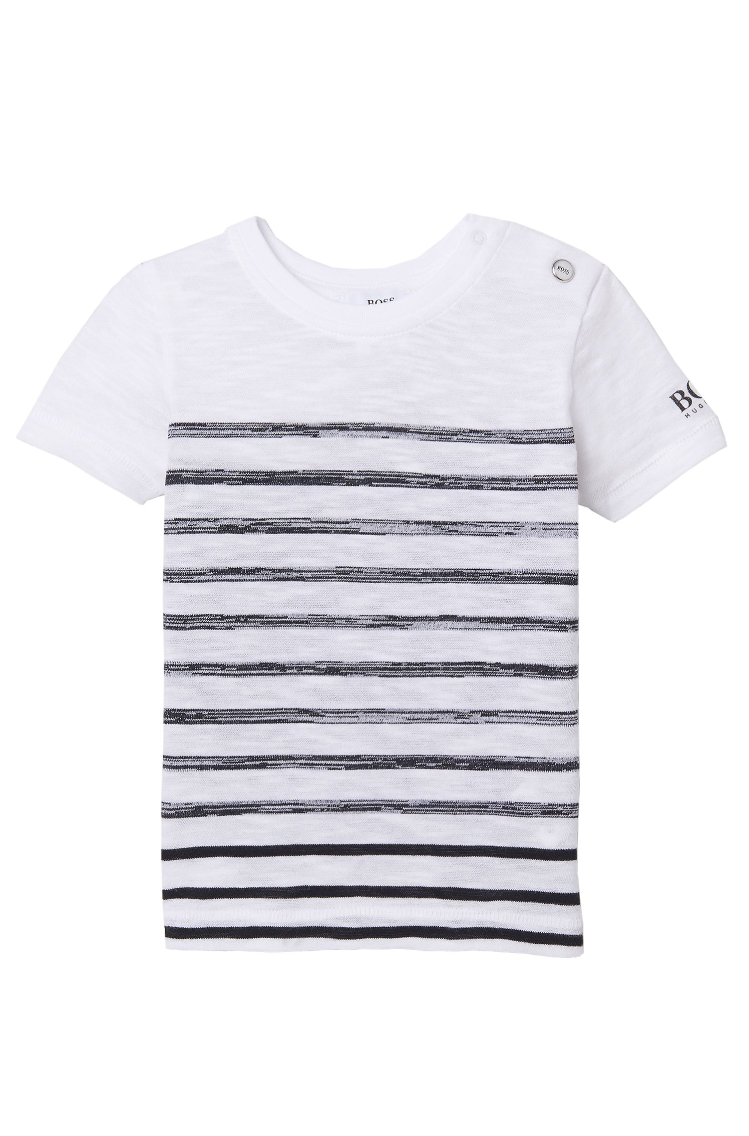 'J05460' | Toddler Cotton Striped Slub T-Shirt