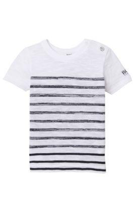 'J05460' | Toddler Cotton Striped Slub T-Shirt, Patterned