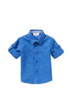 'J05465' | Toddler Cotton Button Down Shirt, Blue