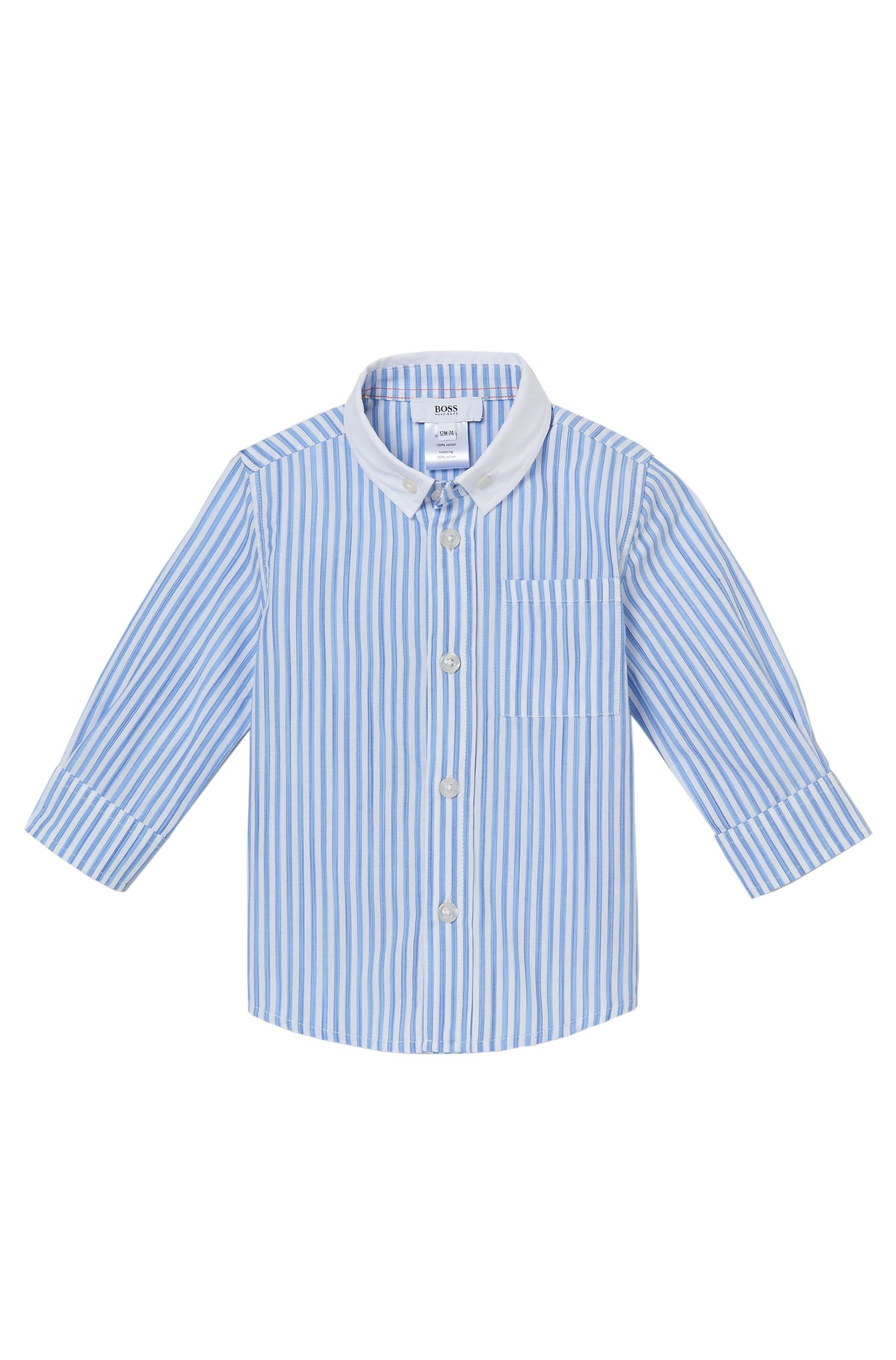 'J05467' | Toddler Cotton Striped Button Down Shirt