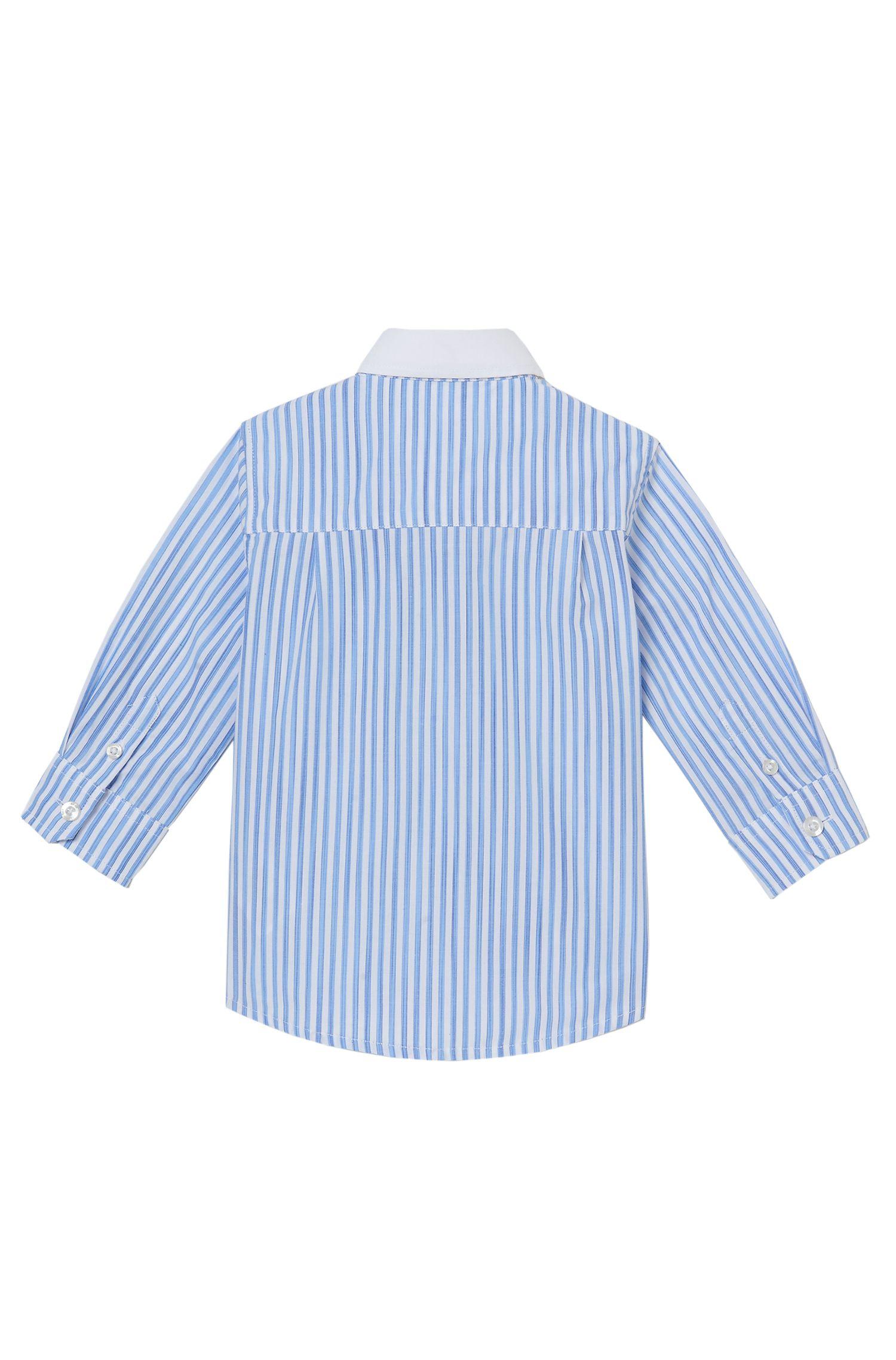 'J05467'   Toddler Cotton Striped Button Down Shirt