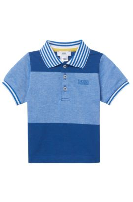 'J05495' | Toddler Stretch Cotton Pique Polo, Blue