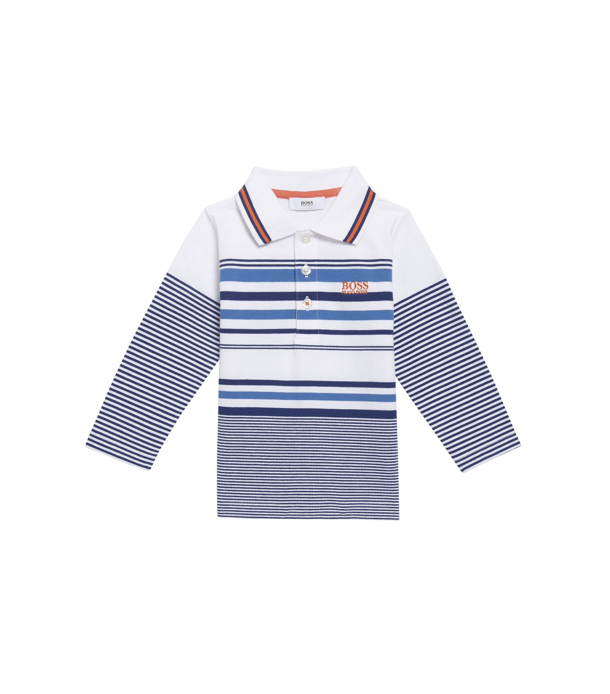 'J05498' | Toddler Stretch Cotton Blend Polo Shirt, Dark Blue