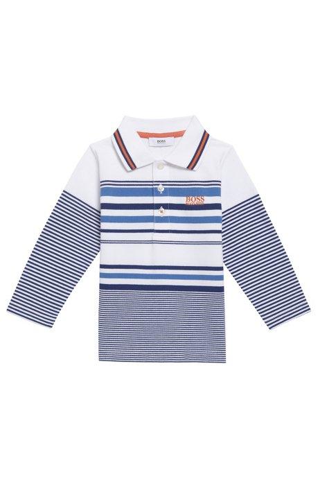'J05498' | Toddler Stretch Cotton Blend Polo Shirt, Dark Blue