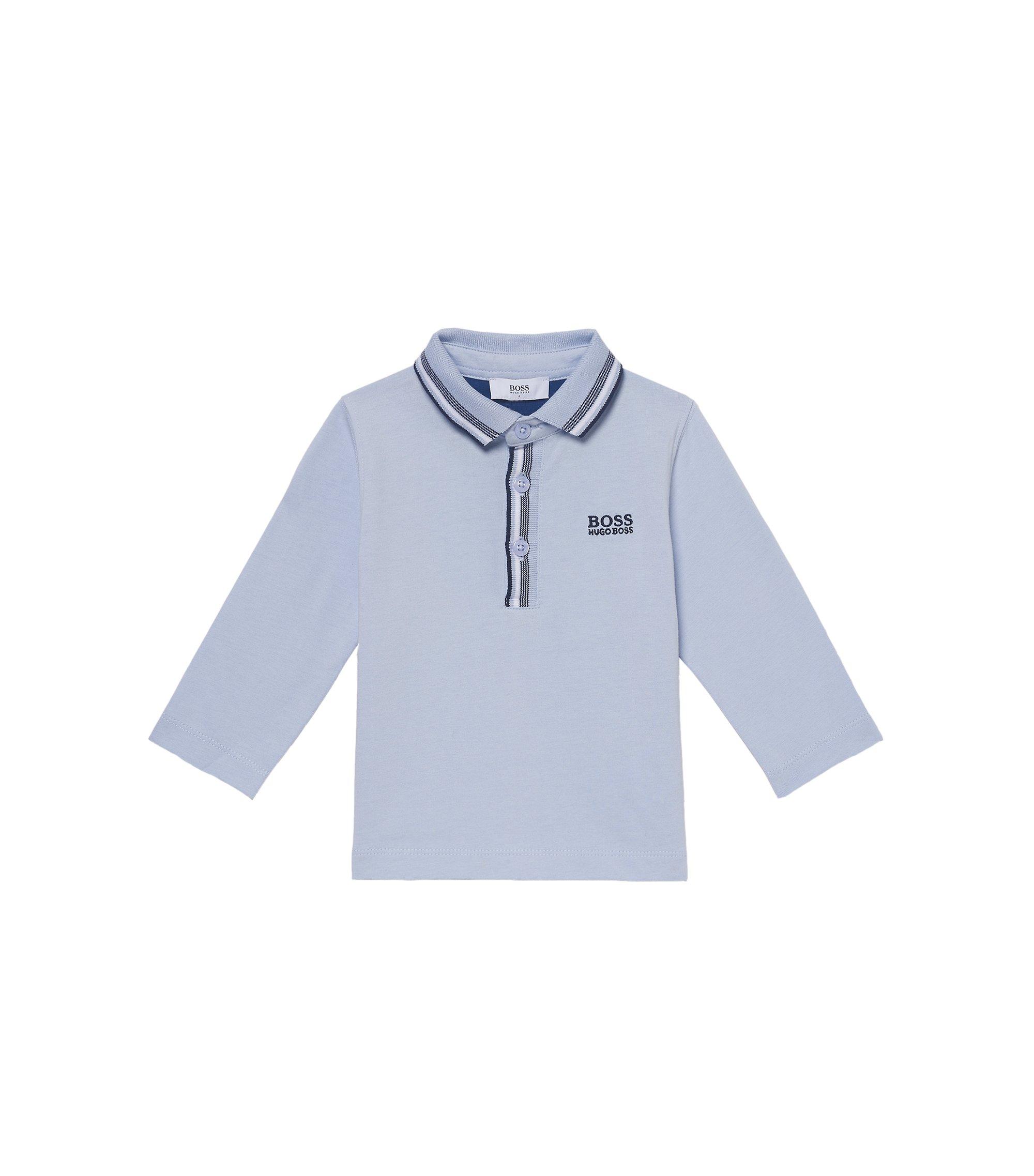 'J05500' | Toddler Stretch Cotton Blend Polo Shirt, Light Blue