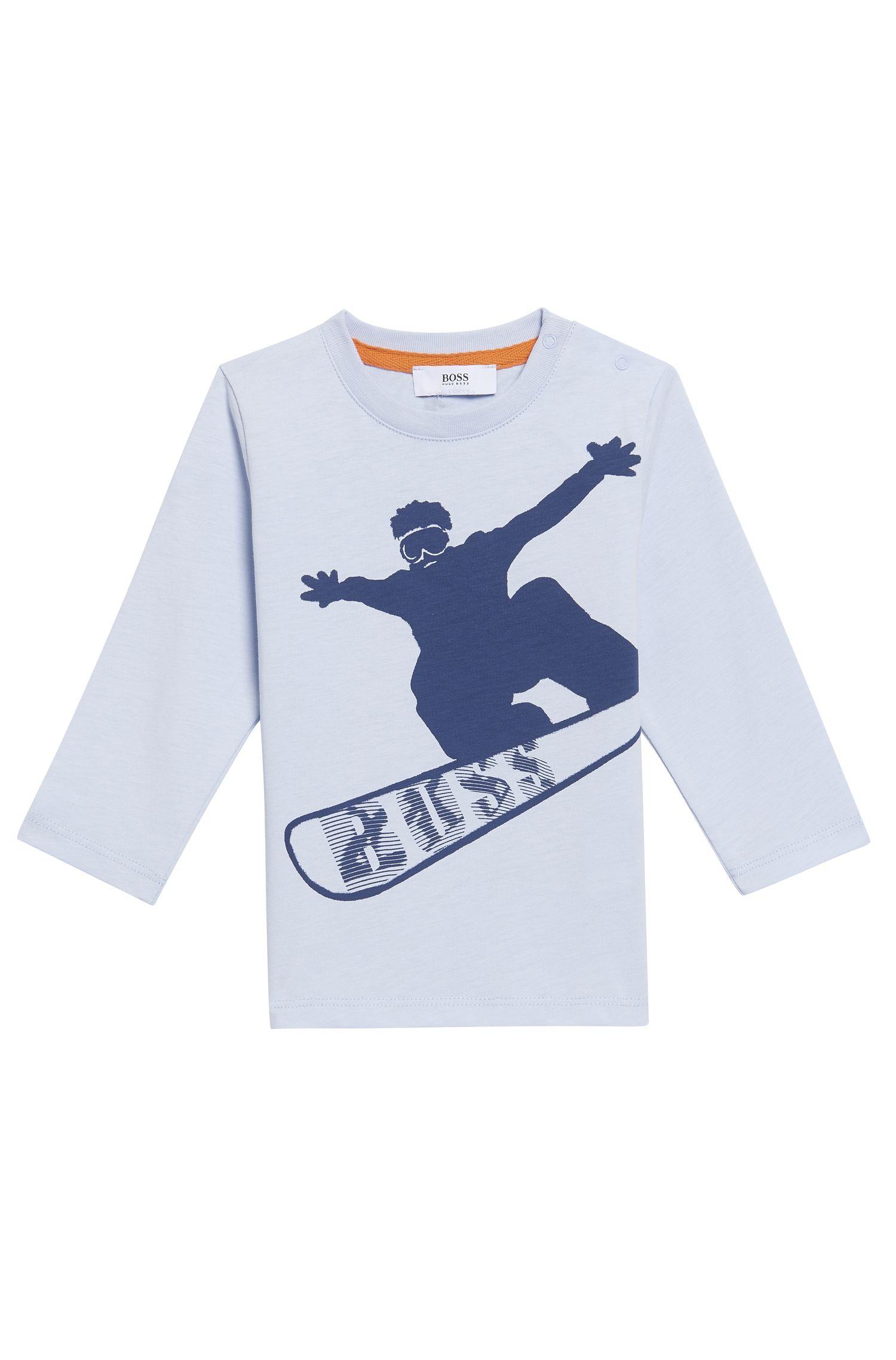 'J05504' | Toddler Stretch Cotton Blend Long Sleeve T-Shirt