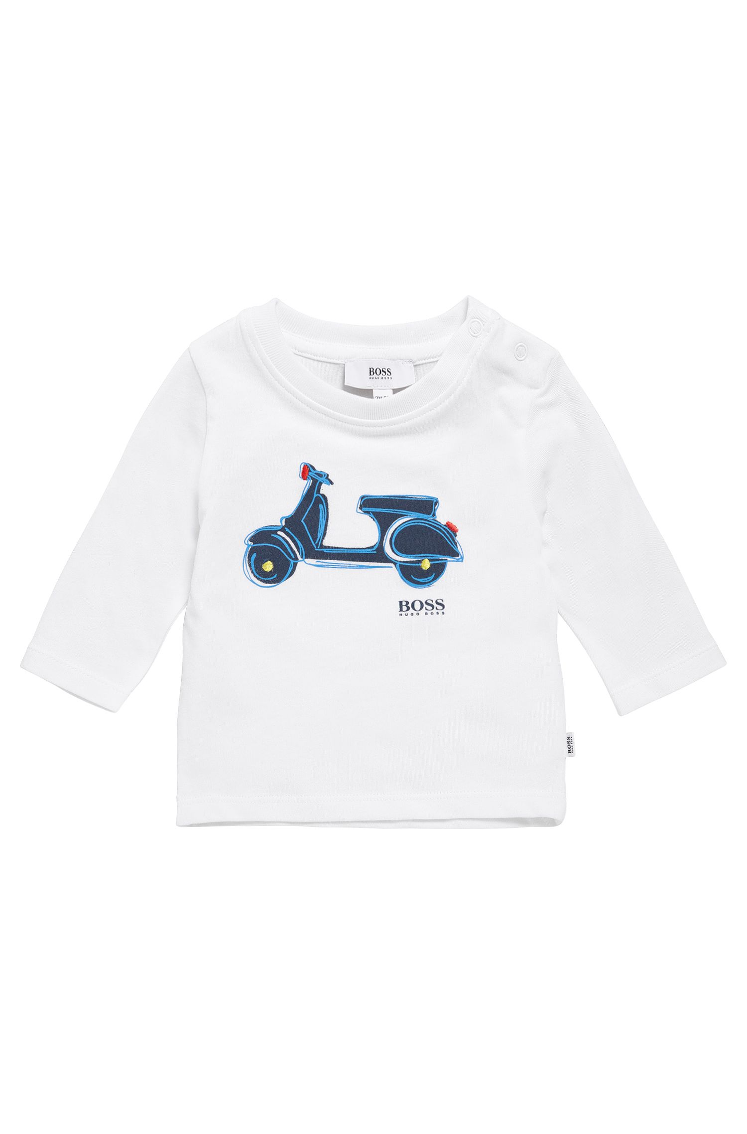'J05507' | Toddler Cotton Button Shoulder T-Shirt
