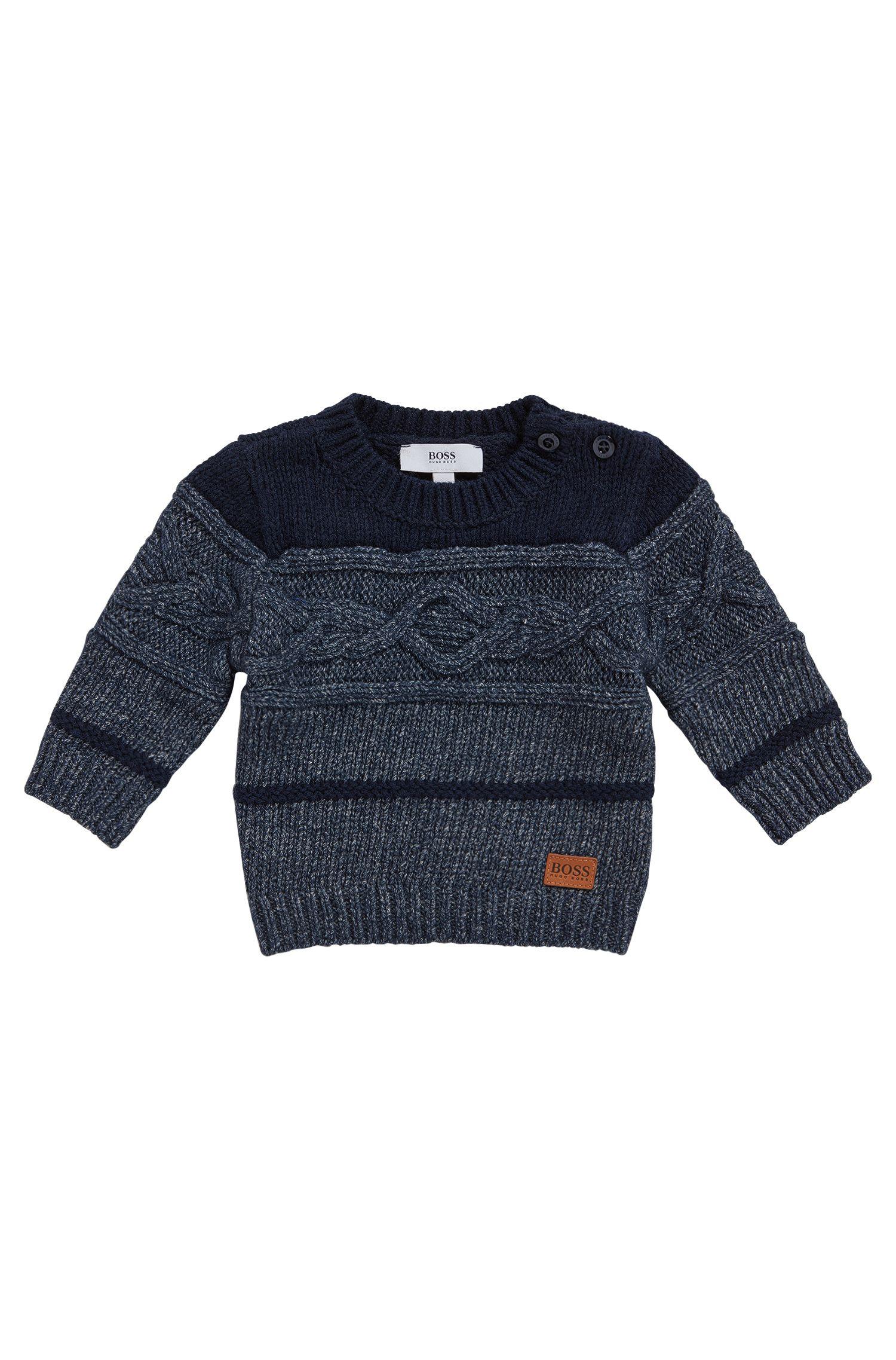 'J05516'   Toddler Stretch Cotton Blend Patterned Sweater