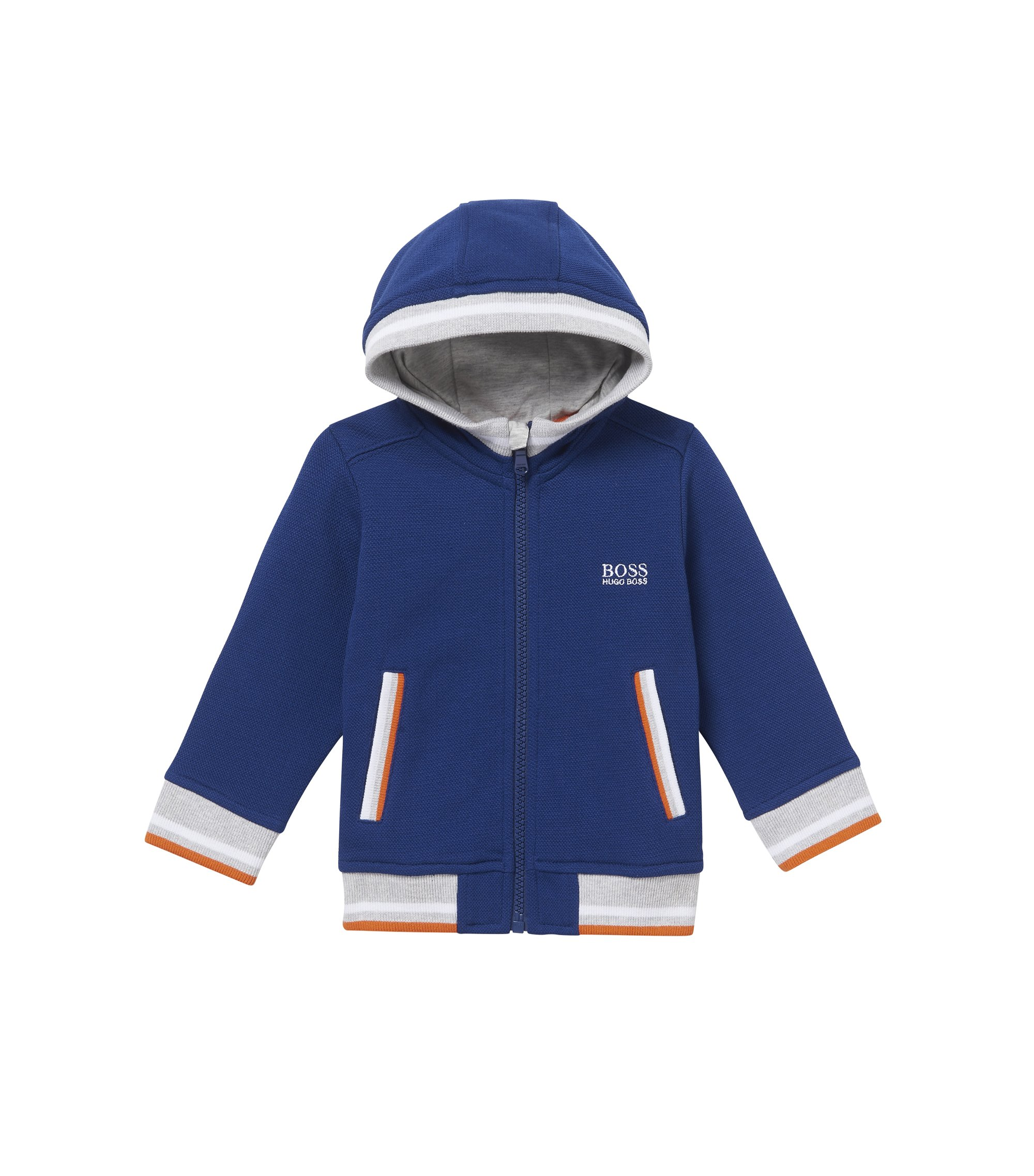 'J05521' | Toddler Stretch Cotton Blend Hood Sweat Jacket, Dark Blue