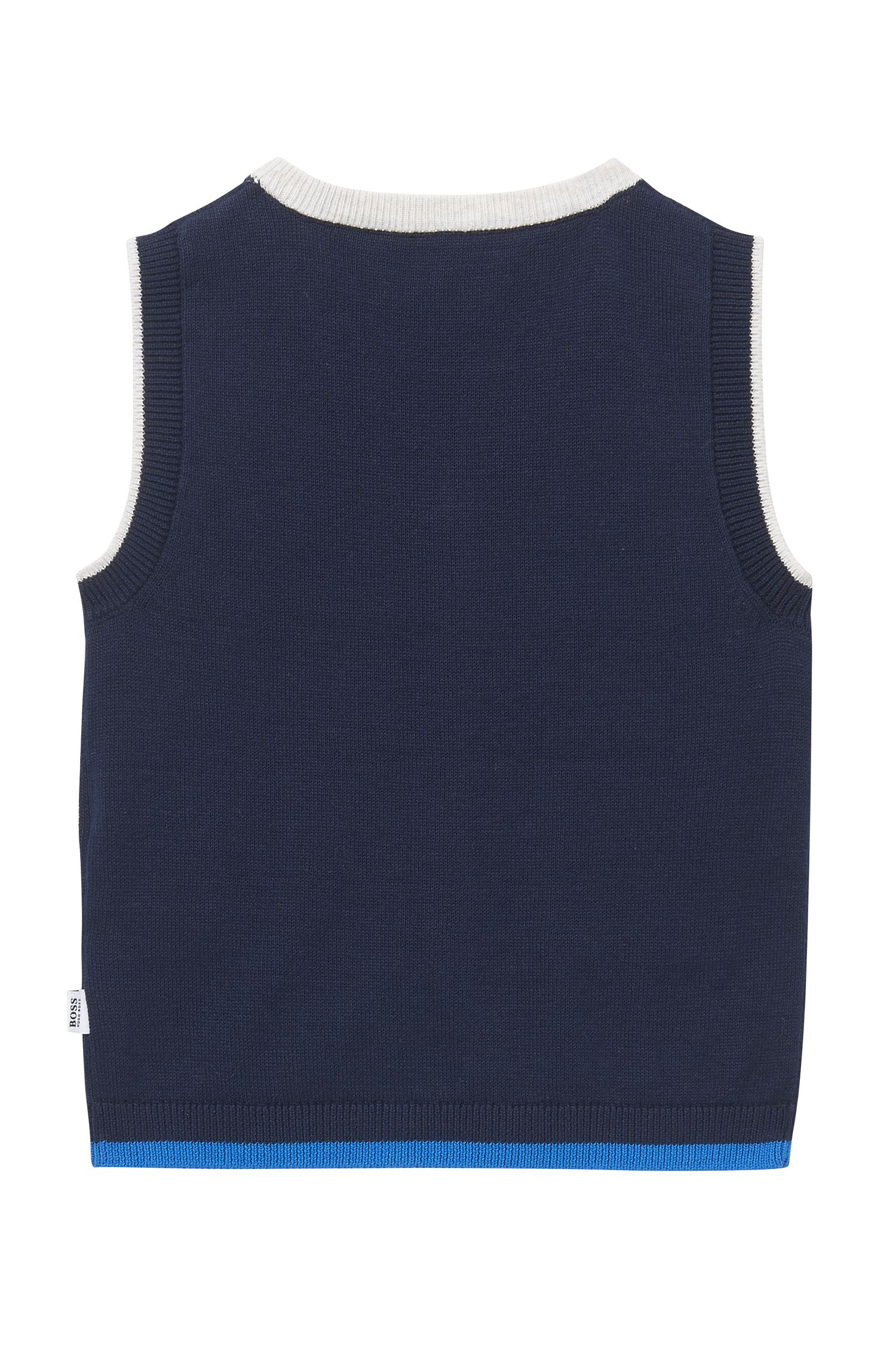 'J05523'   Toddler Stretch Cotton Blend Sweater Vest, Dark Blue