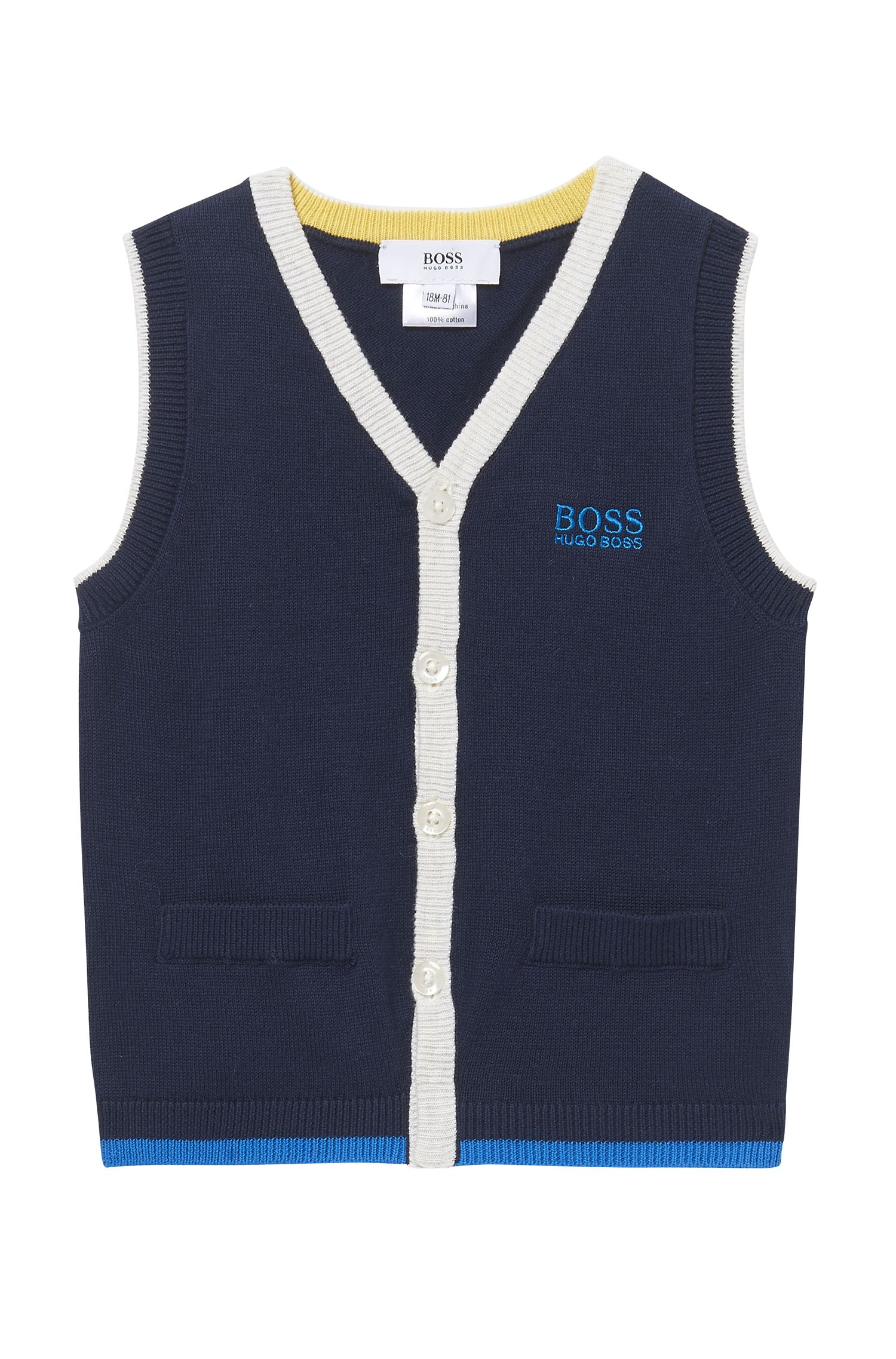 'J05523' | Toddler Stretch Cotton Blend Sweater Vest