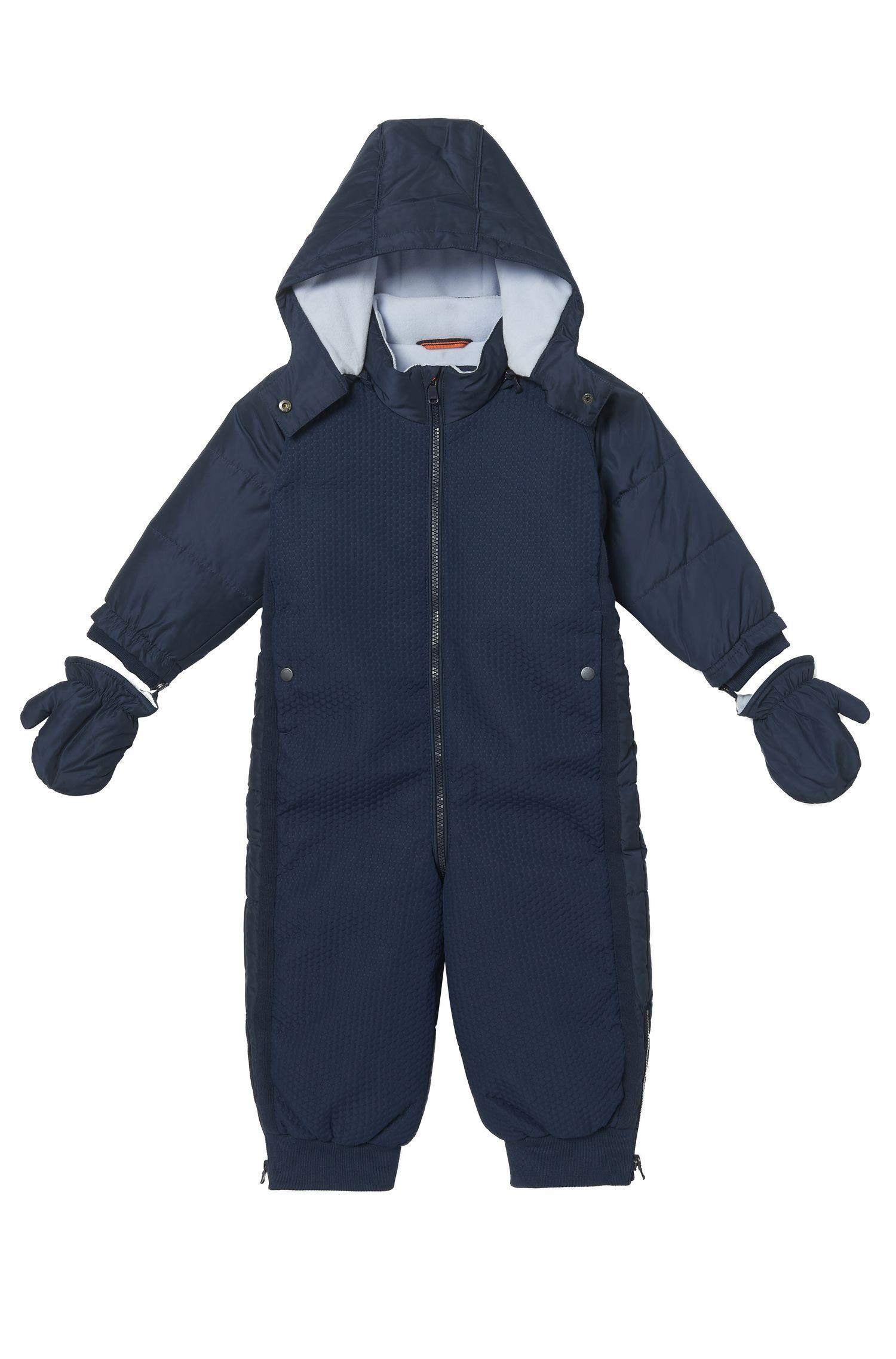 'J06151' | Toddler Nylon Blend Snowsuit, Detachable Hood