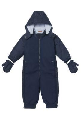 'J06151' | Toddler Nylon Blend Snowsuit, Detachable Hood, Dark Blue