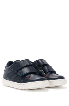 'J09081' | Toddler Leather Sneakers, Dark Blue