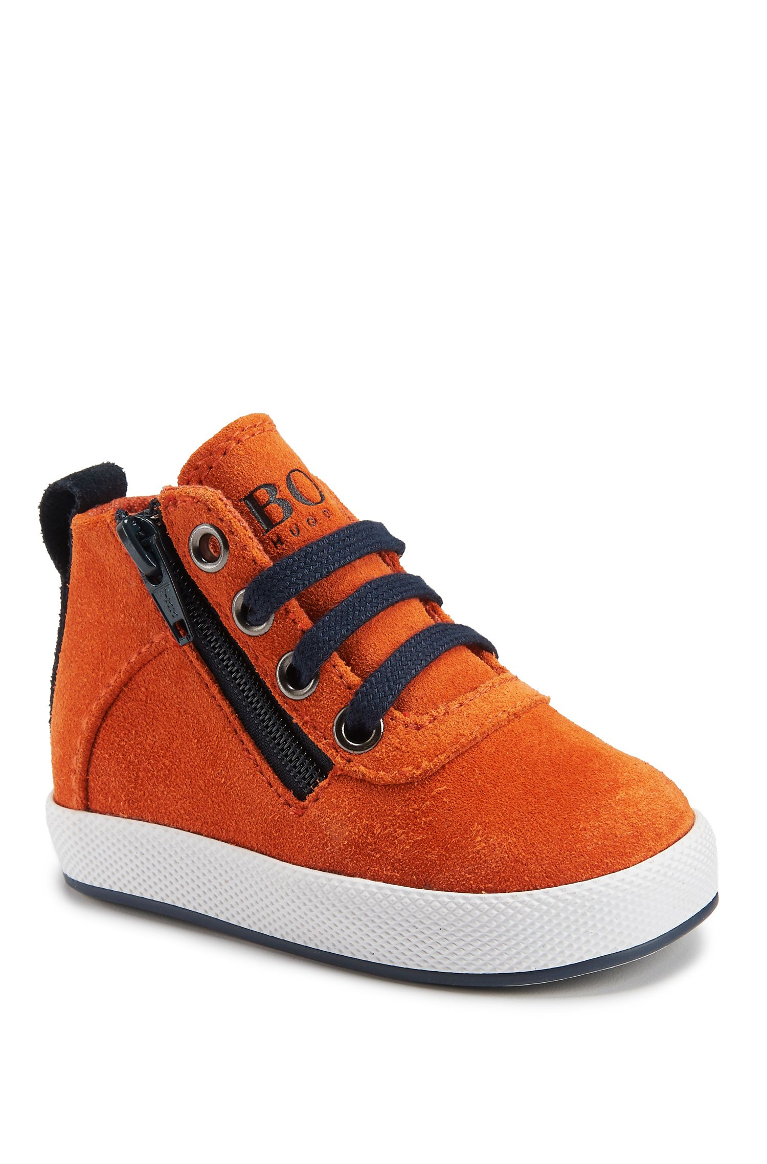 Newborn Suede Sneaker | J09084, Orange