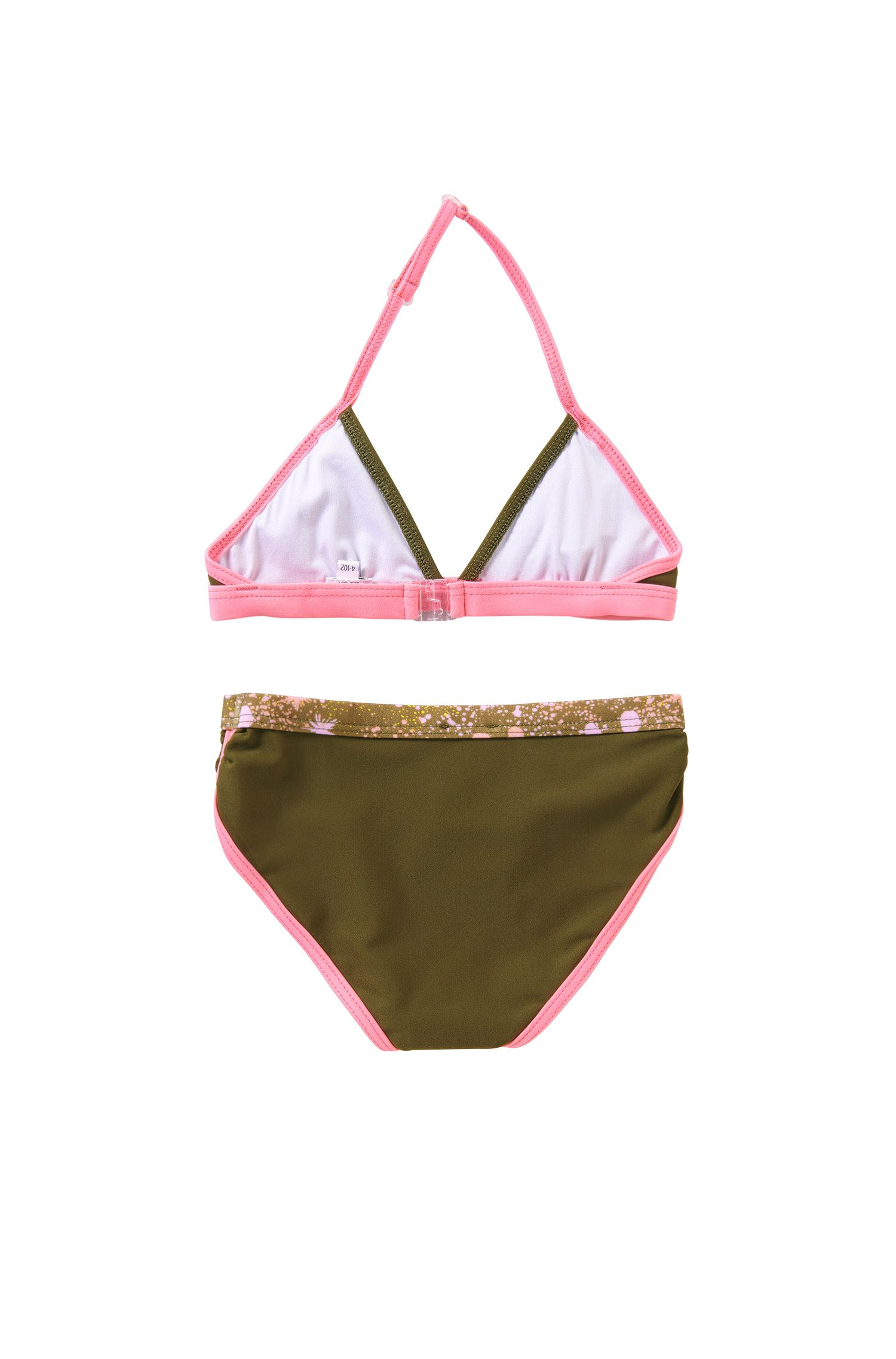 'J10096'    Girls Stretch Cotton 2-Piece Bathing Suit, Dark Green