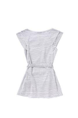 'J12148' | Girls Modal Jersey Belted Striped Dress, Patterned