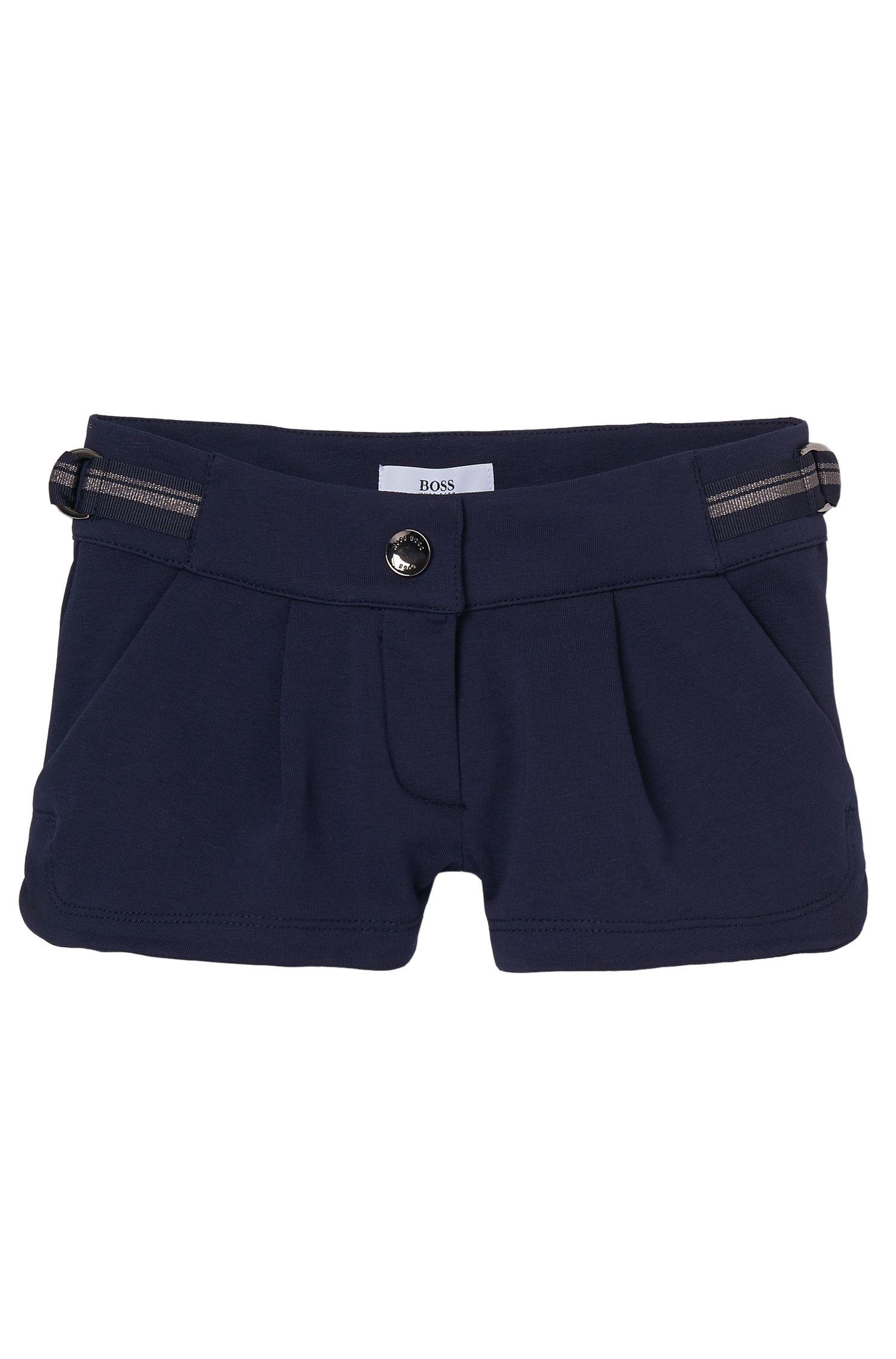 'J14173'   Girls Cotton Fleece Shorts